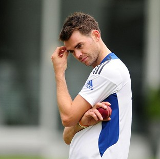 A groin problem has sidelined bowler James Anderson