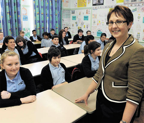 CLASS SIZES REDUCED: Head teacher Denise Richards at St Julians School, Newport