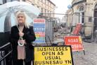 CALL FOR ACTION: Cllr Gaynor James says traders are suffering again because of a lack of car parking in Pontypool town centre