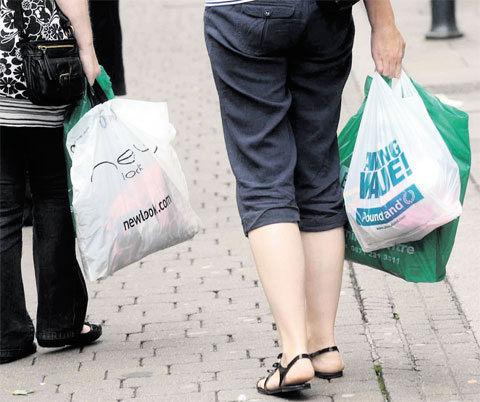 RARER SIGHT: We are using far fewer carrier bags since the introduction of the 5p charge for single-use bags in Wales last year