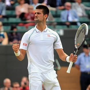 Novak Djokovic (pictured) will lose his position as world number one if Roger Federer wins Wimbledon
