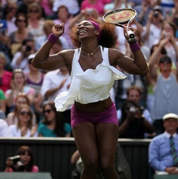 Serena Williams (pictured) hit a record-breaking 24 aces on her way to defeating Victoria Azarenka