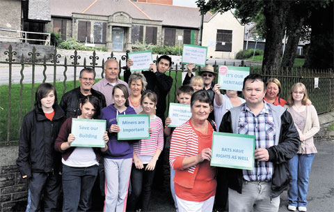 PROTEST: Residents are objecting to the proposal to demolish Blaina and District Hospital to make way for bungalows for the elderly. Residents want to keep it as a community facility as the orginal building was paid for by miners