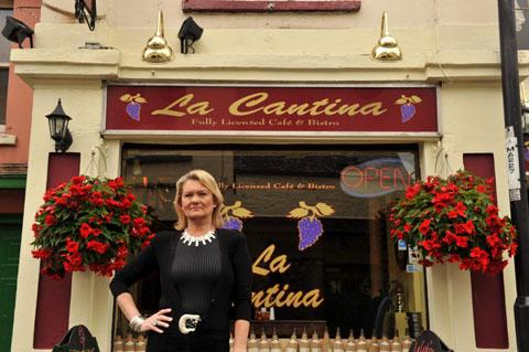 Sally Smith outside La Cantina