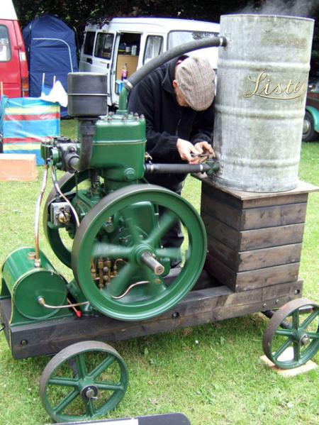 A Lister steam engine at Abergavenny Steam Fair, by David James