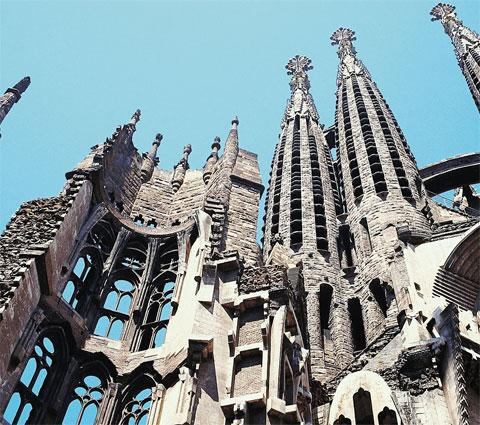 Barcelona's Sagrada Familia, designed by Gaudi