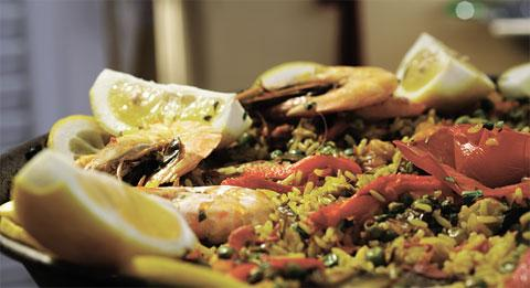Spanish favourite paella is one dish Briton's tuck into on holiday