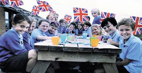 JUBILEE JOY: Pupils when they celebrated the Queen's Diamond Jubilee