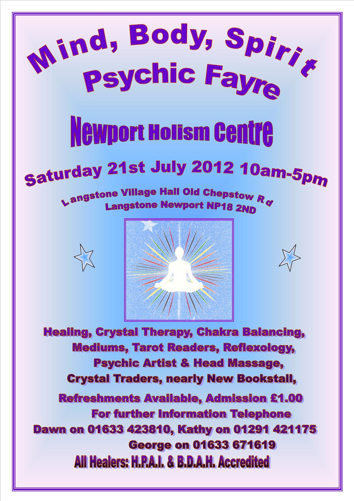Mind Body and Spirit Psychic Fayre