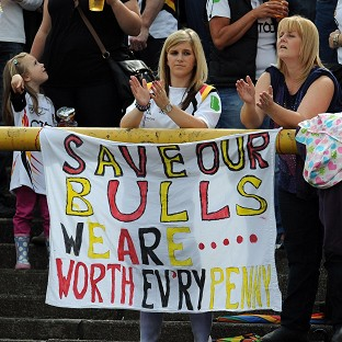 Bradford Bulls fans show support for their financially-stricken club