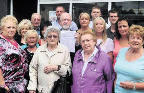 PETITION: Residents of Caerleon are campaigning against the closure of the HSBC branch