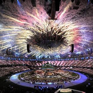 2012 opening ceremony at the Olympic Stadium