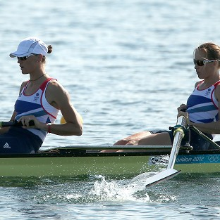 Heather Stanning, left, and Helen Glover, right,