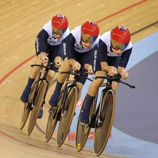 Dani King, Laura Trott and Joanna Rowsell smashed the world record on their way to team pursuit gold