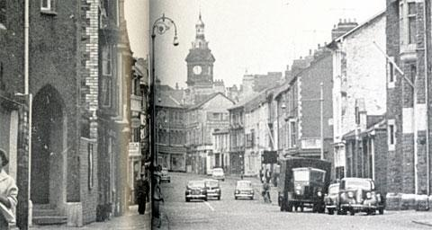 THEN: Lower Dock Street in Newport