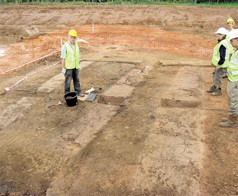 ROW: The site of the excavation in Rockfield