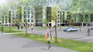 HOW IT WILL LOOK: Artist impression of the specialist and critical care centre on the former Llanfrechfa Grange Hospital site