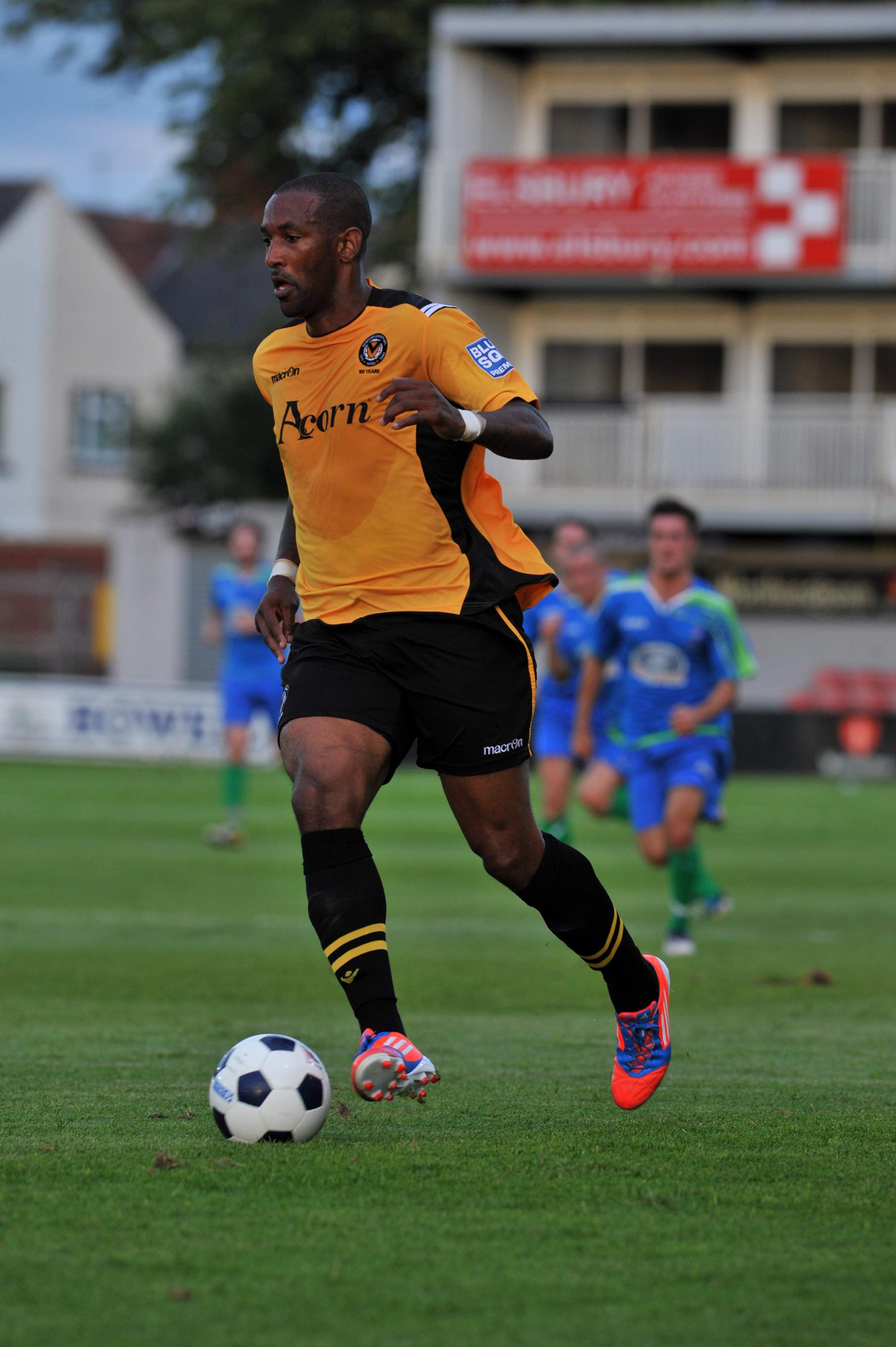 RARING TO GO: County striker Jefferson Louis