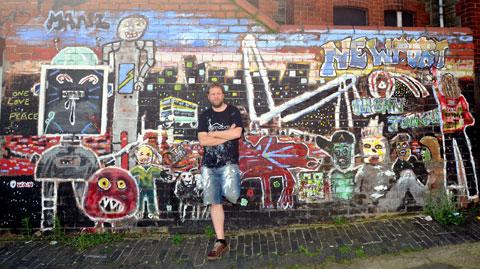 WALL ART: Street artist Alex Arnell has created murals on several premises in Pill