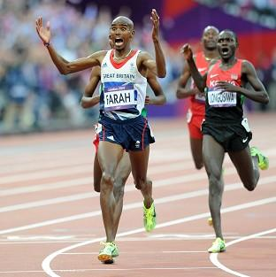 Mo Farah, left, won the 5,000m final