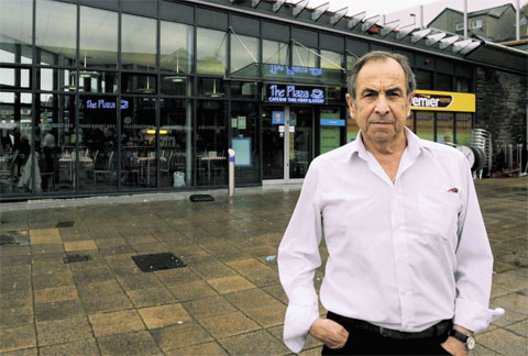 OPTIMISTIC: Plaza Cafe owner Jim Edwards, who says Blackwood Bus Station is now a safe and welcoming place