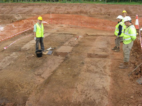DISCOVERY:The site at Rockfield near Monmouth