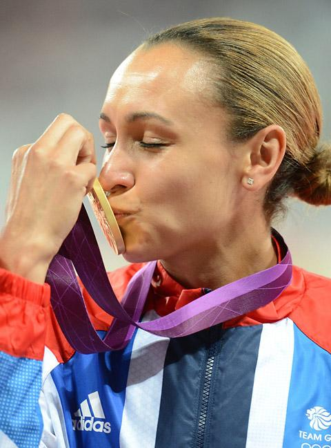 GOLDEN GIRL: Jessica Ennis with her Olympic gold medal