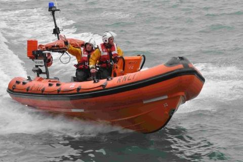 Lifeboats rescue Newport yacht pair in West Wales
