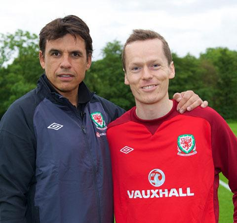 BIG CHANCE! Argus football writer Andrew Penman with Wales boss Chris Coleman