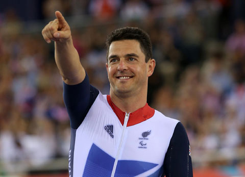 Silver medallist Mark Colbourne is in action again today