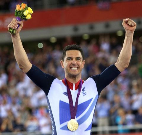 SPECIAL MOMENT: Mark Colbourne with his gold medal
