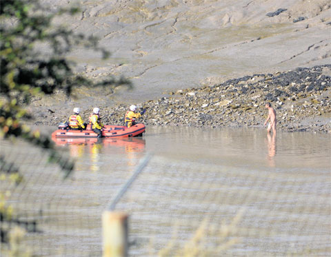 Naked man rescued from river Usk in Newport