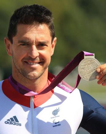 CARRYING THE BATON: Paralympic gold medal-winning cyclist from Tredegar, Mark Colbourn will be carrying the Queen's Commonwealth Games Baton