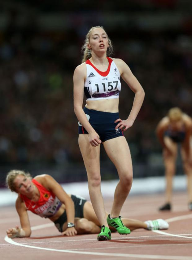 DEVASTATED: Jenny McLoughlin after tonight's race