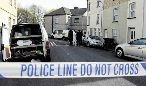 SCENE: Jeddo Street, in Pill, Newport, where Richard Carslake's body was found