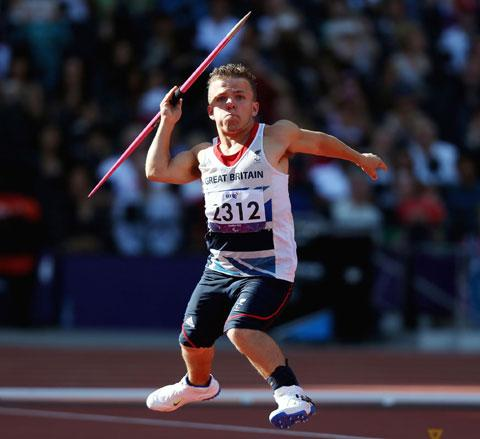 SPECIAL MOMENT: Kyron Duke in action in the F40 javelin today