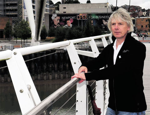 PRAISED: Jeff Seymour, one of the men who helped stop a woman jump off the Millennium Bridge in Newport Police praise friends who saved woman on bridge