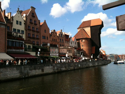 HISTORIC: The riverfront in Gdansk
