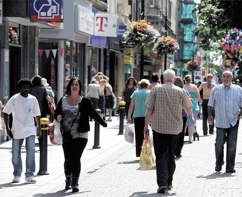 FOOTFALL: Despite shops closing, more people visited Newport city centre this year than last