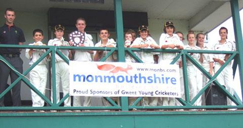 VICTORY: The Newport team who won the Monmouthshire Building Society Under-13 Youth Cricket Shield final
