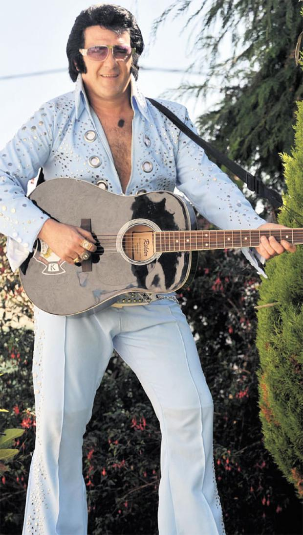 Darren 'Graceland' Jones from Sebastapol, Pontypool has been named best Elvis impersonator in Wales