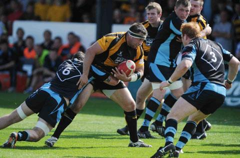 BIG BOOST: Newport are set to welcome back club captain Gethin Robinson from a long term ankle injury