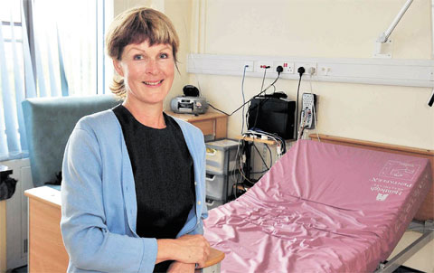 NEW BASE: Consultant Dr Melissa Hack at the new unit for sleep disorder patients at the Royal Gwent Hospital