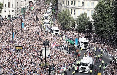 FINAL HURRAH: London 2012: Our Greatest Team Parade