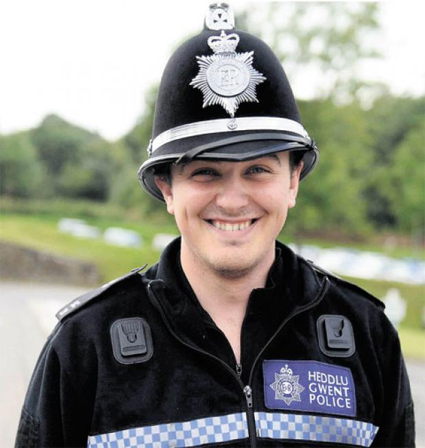 BIG EFFORT: Special Constable Dewi Roberts