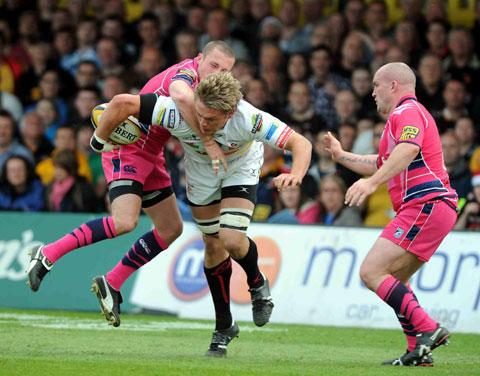 South Wales Argus: READY FOR BATTLE: Dragons captain Lewis Evans