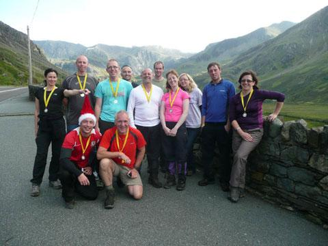 Walkers climb 15 Snowdonia peaks for Hospice of the Valleys