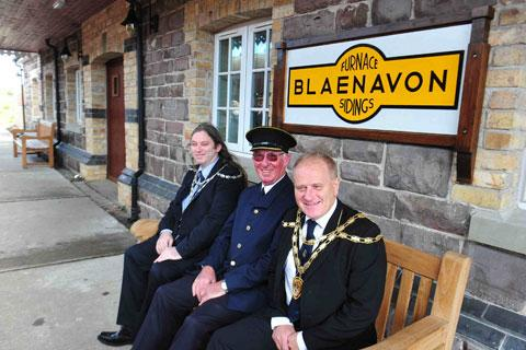 Blaenavon railway opens new station