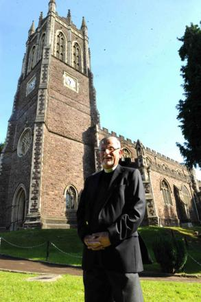 UNDER THREAT: The Reverend Andrew Willie of St Mark's Church in Newport