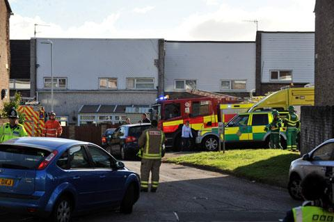 SCENE: Emergency services on Tillsland, Coed Eva in Cwmbran